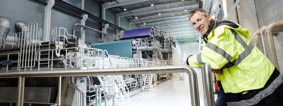 producción industrial papel