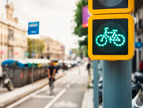 tráfico en bici