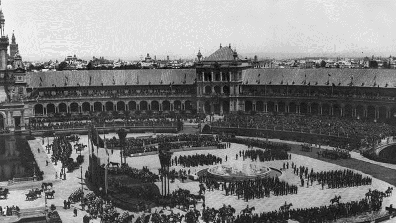 Plaza España de Sevilla en 1929